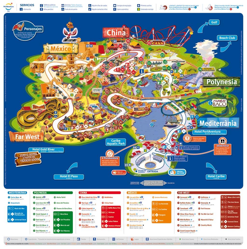 Port aventura infos photos plan videos parc - Port aventura plan ...